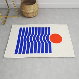 Going down-modern abstract Rug
