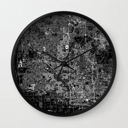 Phoenix Black Map Wall Clock