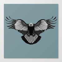 eagle Canvas Prints featuring Eagle by Schwebewesen • Romina Lutz