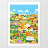the neighbourhood Art Prints featuring Neighbourhood by James Thornton