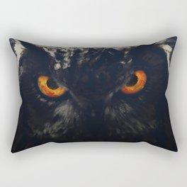 owl look digital painting orcfnd Rectangular Pillow