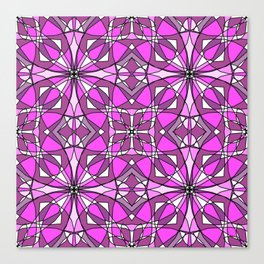 Pink Stained Glass Canvas Print