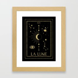 The Moon or La Lune Gold Edition Framed Art Print
