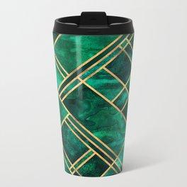 Emerald Blocks Metal Travel Mug