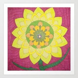 Flower of My Sun Art Print