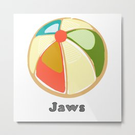 An Emotional Tribute to the Movie Jaws Metal Print