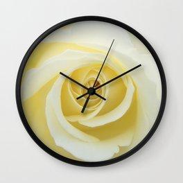 Beautiful Yellow Rose Wall Clock