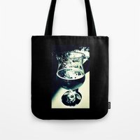 beer Tote Bags featuring Beer by Derek Fleener