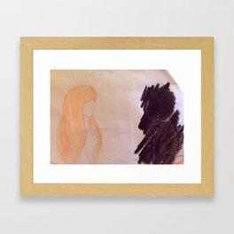 Shadow couple Framed Art Print