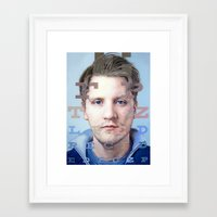 mike wrobel Framed Art Prints featuring Mike by Justin Yanke