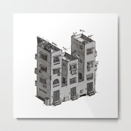W - Alphabet Town Metal Print
