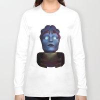 mass effect Long Sleeve T-shirts featuring Mass Effect: Samara by Ruthie Hammerschlag
