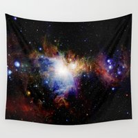 nebula Wall Tapestries featuring Orion NebulA Colorful Full Image by 2sweet4words Designs