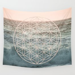 Mandala Flower of Life Sea Wall Tapestry