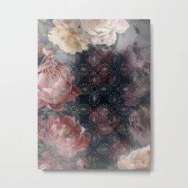 Floral Abstract Pattern Design Metal Print