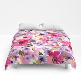 FLOWERS WATERCOLOR 6 Comforters