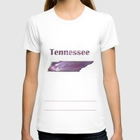 tennessee T-shirts featuring Tennessee Map by Roger Wedegis