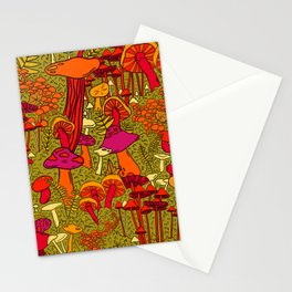 Mushrooms in the Forest Stationery Cards