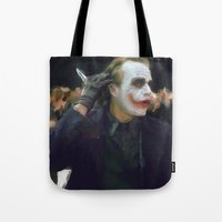 hello beautiful Tote Bags featuring Hello Beautiful by  Maʁϟ