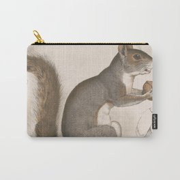 Vintage Illustration of a Grey Squirrel Carry-All Pouch
