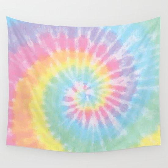 Pastel Tie Dye Wall Tapestry by casesbykate | Society6