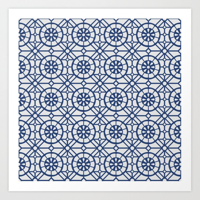 Azul Tiles II - Blue on White  (Patterns Please) Art Print