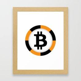 Bitcoin 10 Framed Art Print