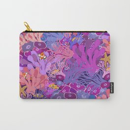 Block Party on the Reef - Clownfish Anemone Marine Sea Life Coral Carry-All Pouch