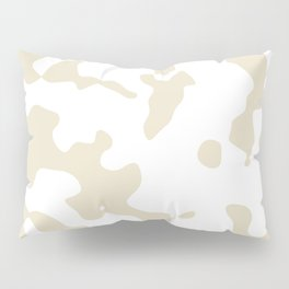 Large Spots - White and Pearl Brown Pillow Sham