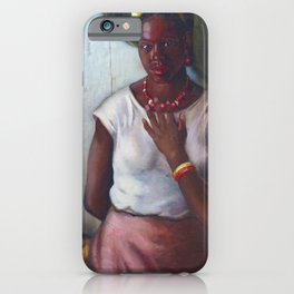African American Masterpiece 'Katy, Queen of Tennessee' by Frank Stanley Herring iPhone Case