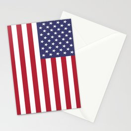 Old Glory, the Stars and Stripes of the USA - America! Stationery Cards
