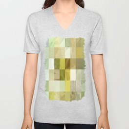 Pale Yellow Poinsettia 1 Abstract Rectangles 3 Unisex V-Neck