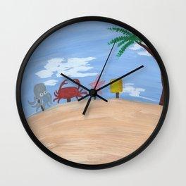 Above Bikini Bottom Wall Clock