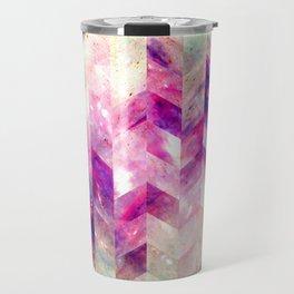 Abstract Geometric Pink Galaxy Travel Mug