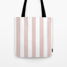 Dust storm pink - solid color - white vertical lines pattern Tote Bag