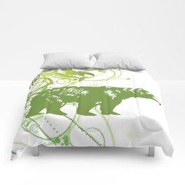 Green Bear Comforters
