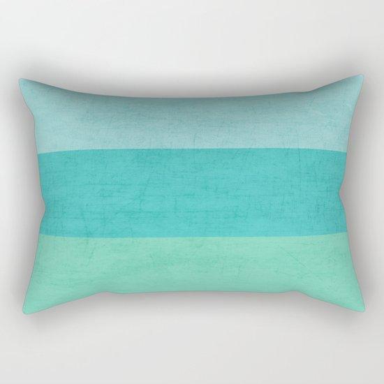 three stripes - teal Rectangular Pillow