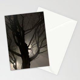 Creepy Tree in Fog Stationery Cards