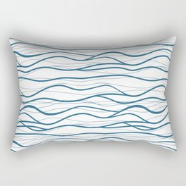 Seapattern. Hand drawn waves Rectangular Pillow