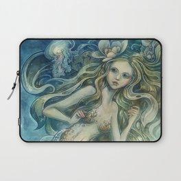 mermaid with Flowers in her hair Laptop Sleeve