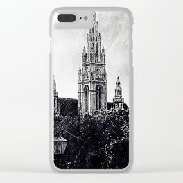 Light beyond the hedge Clear iPhone Case
