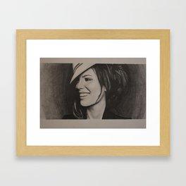 Kate Beckinsale Portrait Framed Art Print