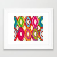 ikat Framed Art Prints featuring Ikat by Helene Michau
