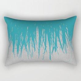 Concrete Fringe Teal Rectangular Pillow