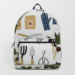 Gardening Tools and Plants Backpack