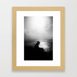Artist inspiration by the sea Framed Art Print