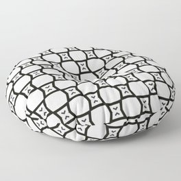 Cute Black and White Octagon Pattern Floor Pillow