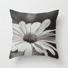 Single Daisy BW Throw Pillow