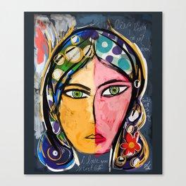Portrait of a mystique girl Canvas Print