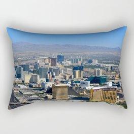 Las Vegas Nevada aerial work A Rectangular Pillow